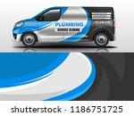 company car wrap. wrap design... | Shutterstock .eps vector #1186751725