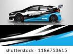 car wrap design vector  truck... | Shutterstock .eps vector #1186753615