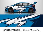 car wrap design vector  truck... | Shutterstock .eps vector #1186753672
