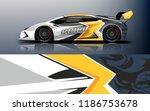 car wrap design vector  truck... | Shutterstock .eps vector #1186753678