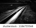 a railroad gives an interesting ... | Shutterstock . vector #1186755568