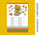 a set of popular mexican fast... | Shutterstock .eps vector #1186764502