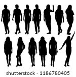 vector  isolated  silhouette of ... | Shutterstock .eps vector #1186780405