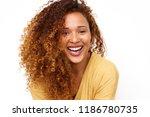 close up portrait of happy... | Shutterstock . vector #1186780735