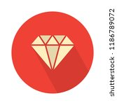 vector diamond illustration.... | Shutterstock .eps vector #1186789072
