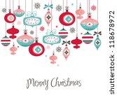 retro christmas balls | Shutterstock .eps vector #118678972