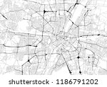 monochrome city map with road... | Shutterstock . vector #1186791202