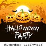 halloween party vector... | Shutterstock .eps vector #1186794835