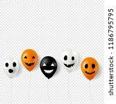 halloween balloons border... | Shutterstock .eps vector #1186795795
