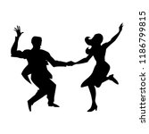silhouette of man and woman... | Shutterstock .eps vector #1186799815