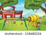 illustration of kids playing...   Shutterstock .eps vector #118680226