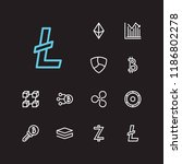 cryptocurrency icons set. stock ...