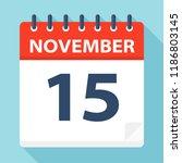 november 15   calendar icon  ... | Shutterstock .eps vector #1186803145