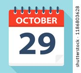 october 29   calendar icon  ... | Shutterstock .eps vector #1186803628