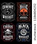 vintage whiskey label t shirt...   Shutterstock .eps vector #1186804252