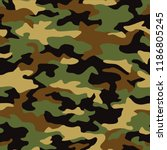 seamless camouflage texture... | Shutterstock .eps vector #1186805245