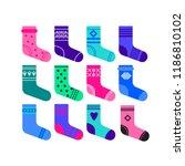 line style gift socks set....   Shutterstock .eps vector #1186810102