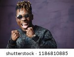 stylish cool guy  african... | Shutterstock . vector #1186810885