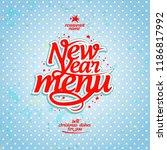 new year menu cover design... | Shutterstock .eps vector #1186817992