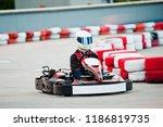 carting race speed motorsport... | Shutterstock . vector #1186819735