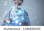 medical technology concept. | Shutterstock . vector #1186830205