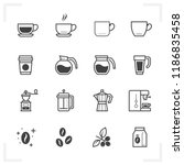 coffee icons with white... | Shutterstock .eps vector #1186835458