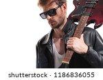 Portrait Of Sexy Guitarist Wit...