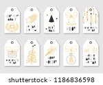 collection of ten christmas... | Shutterstock .eps vector #1186836598