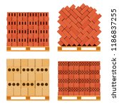 Vector Pallet With Bricks  A...