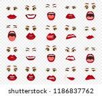 comic emotions. women facial...   Shutterstock .eps vector #1186837762