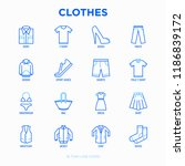 clothing thin line icons set ... | Shutterstock .eps vector #1186839172