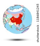 china on political globe with... | Shutterstock . vector #1186841245