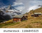 swiss alps. landscape image of... | Shutterstock . vector #1186845325