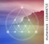 interlocking circles  triangles ... | Shutterstock .eps vector #1186848715
