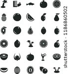 solid black flat icon set small ... | Shutterstock .eps vector #1186860502