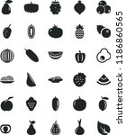 solid black flat icon set onion ... | Shutterstock .eps vector #1186860565