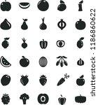 solid black flat icon set beet... | Shutterstock .eps vector #1186860622