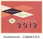 vintage 2018 new year's eve... | Shutterstock .eps vector #1186861315