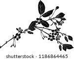 illustration with cherry tree... | Shutterstock .eps vector #1186864465