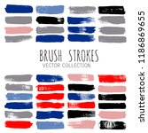 brush strokes vector collection.... | Shutterstock .eps vector #1186869655