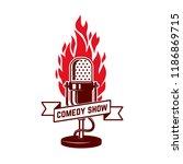 comedy show emblem template.... | Shutterstock .eps vector #1186869715