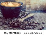 late arts coffe with coffee... | Shutterstock . vector #1186873138