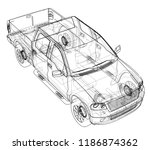 car suv drawing outline. vector ...   Shutterstock .eps vector #1186874362