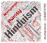 vector conceptual hinduism ... | Shutterstock .eps vector #1186874785