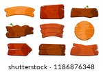 cartoon wood sign boards. old... | Shutterstock .eps vector #1186876348