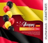 happy germany independence day... | Shutterstock .eps vector #1186876855