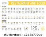restaurant and food icon. flat... | Shutterstock .eps vector #1186877008