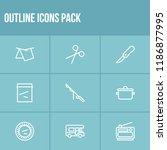 tourism icon set and tarp with...