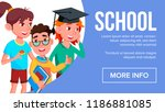 school eduacation banner vector.... | Shutterstock .eps vector #1186881085