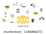 addiction concept. social ... | Shutterstock .eps vector #1186886272